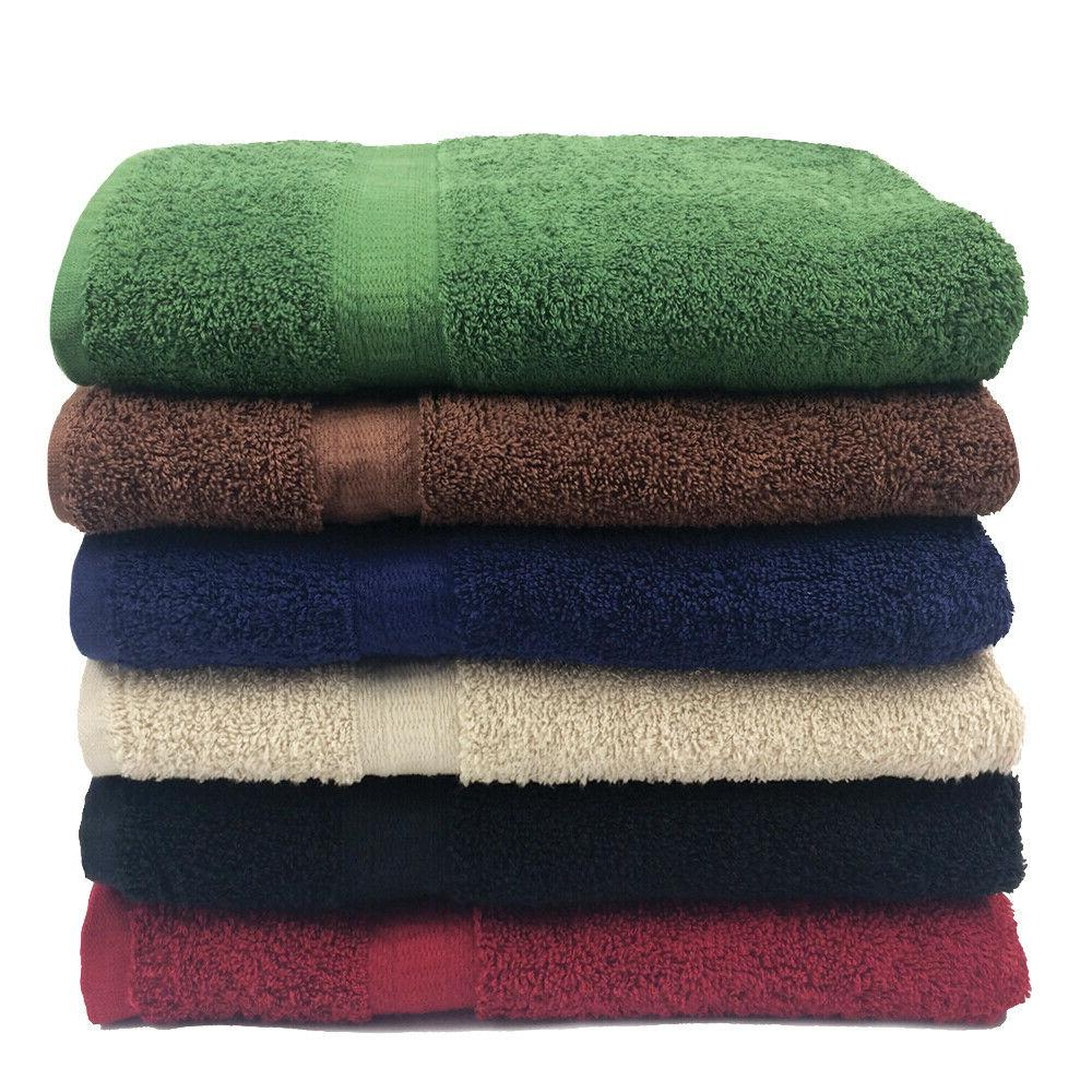 12 Pack Hand Towels Ring-Spun Cotton 16 x 27