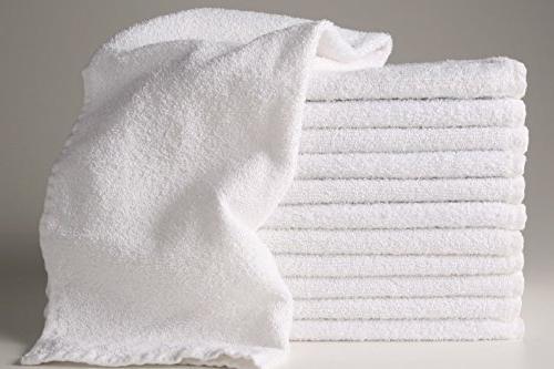 12 white hotel salon cotton