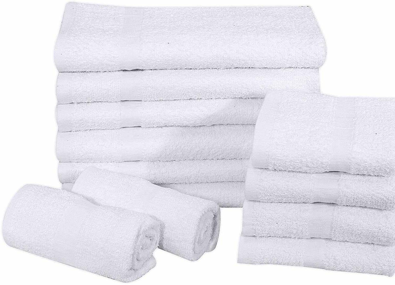 12pcs white16 x27 pure cotton economy hand