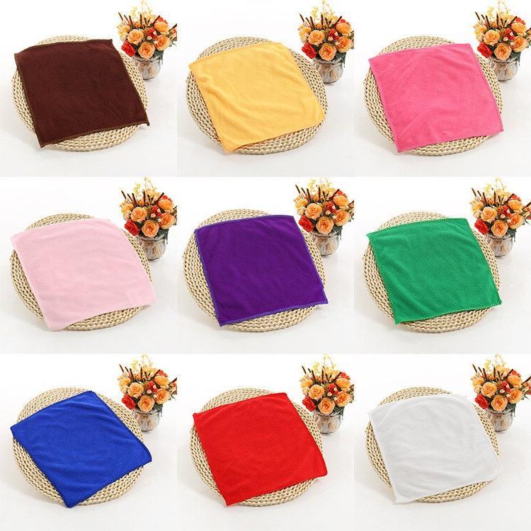 1pcs 25*25cm Soft Square <font><b>Towel</b></font> Microfiber Car Bathroom badlaken Toallas 42177