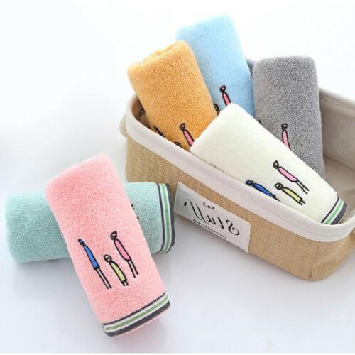 2/4/6pcs 100% Cotton Luxury Absorbent Face Gym Bath Set
