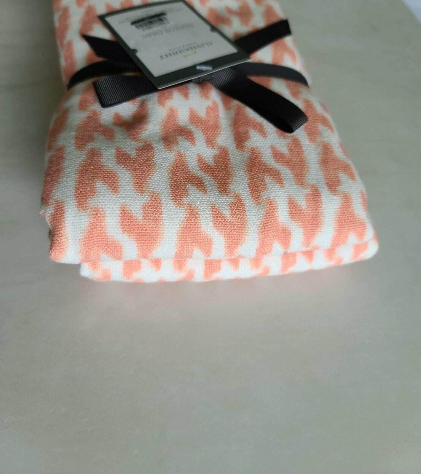 2 Pack Towel Salmon/Coral Pink
