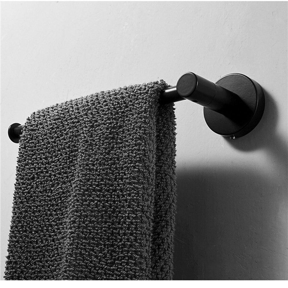 2019 Bathroom Rack Stainless Black Ring Mount <font><b>Bar</b></font>