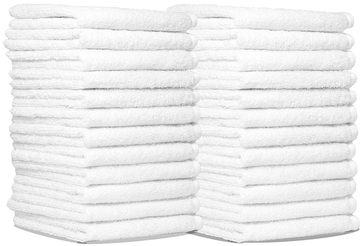 24 NEW WHITE SOFT HAND TOWELS 20X35 100% COTTON WHOLESALE LO