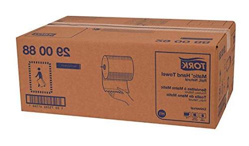 Tork 290088 Single-Ply Hand Towel, Natural,