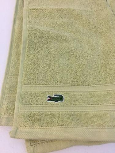 3 lacoste hand towels/ Yellow/green Quality