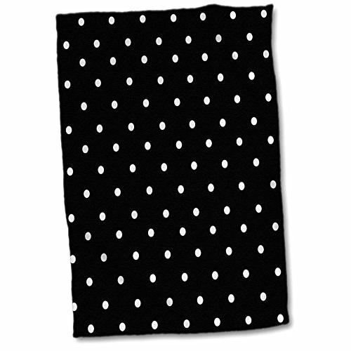 3d rose black white polka