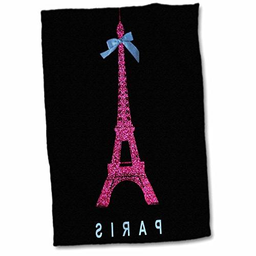 3d rose pink paris eiffel