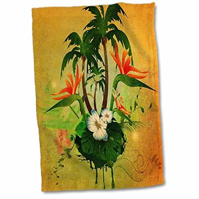 3d rose tropical design with flowers