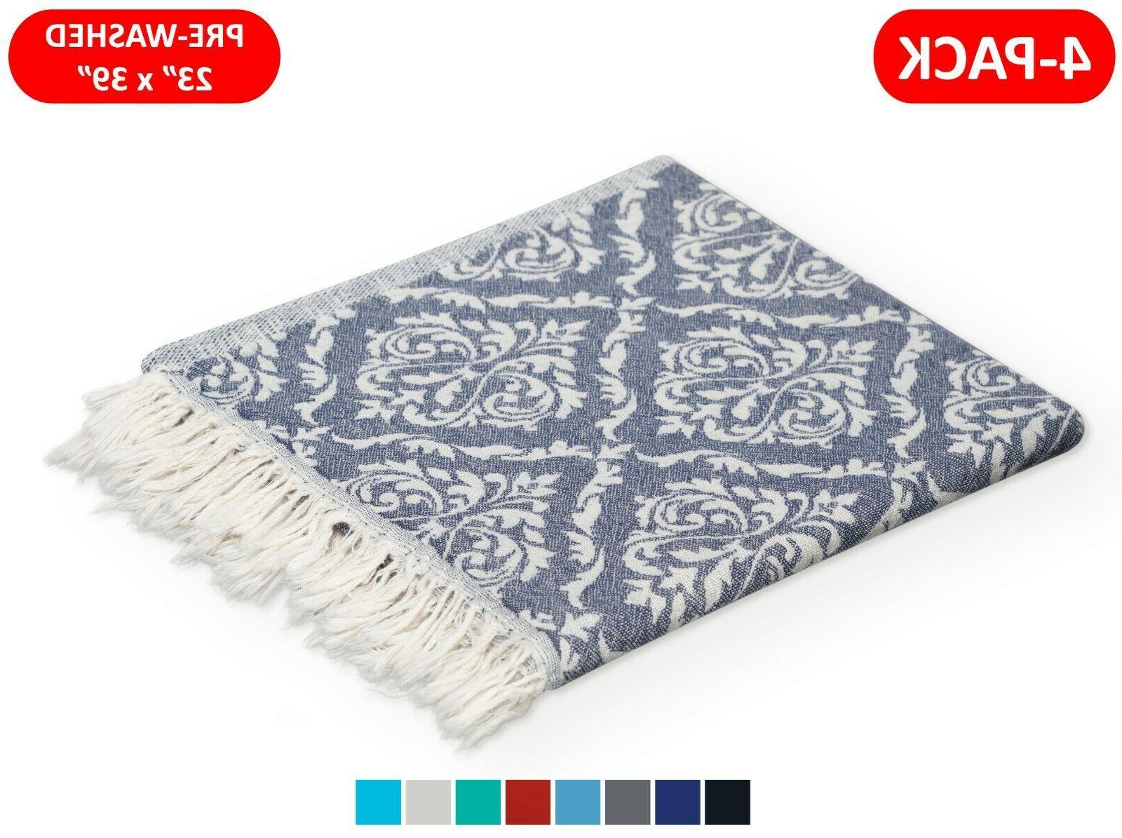 4 pack 100 percent turkish cotton hand