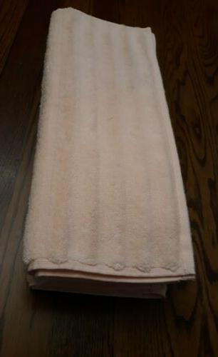 5 ribbed soft pink hand towels
