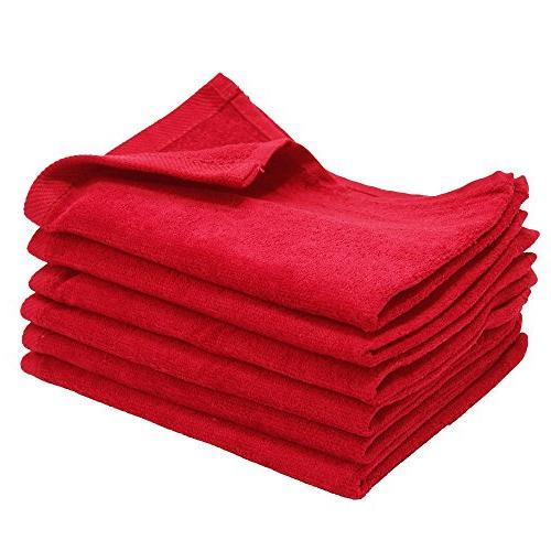 6 Pack - 11x18 Terry Velour Fingertip Towels 1.5#