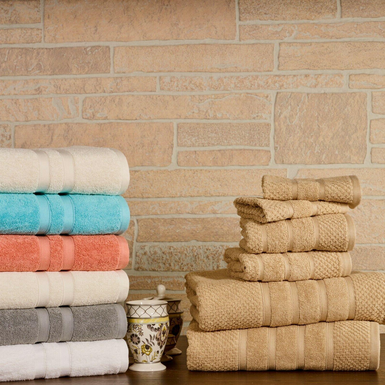 Bibb Home 6-Piece Egyptian Towel Set