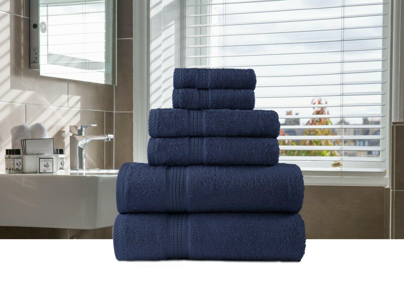 6-Piece Bath-Hand-Face Towels Sets Multi