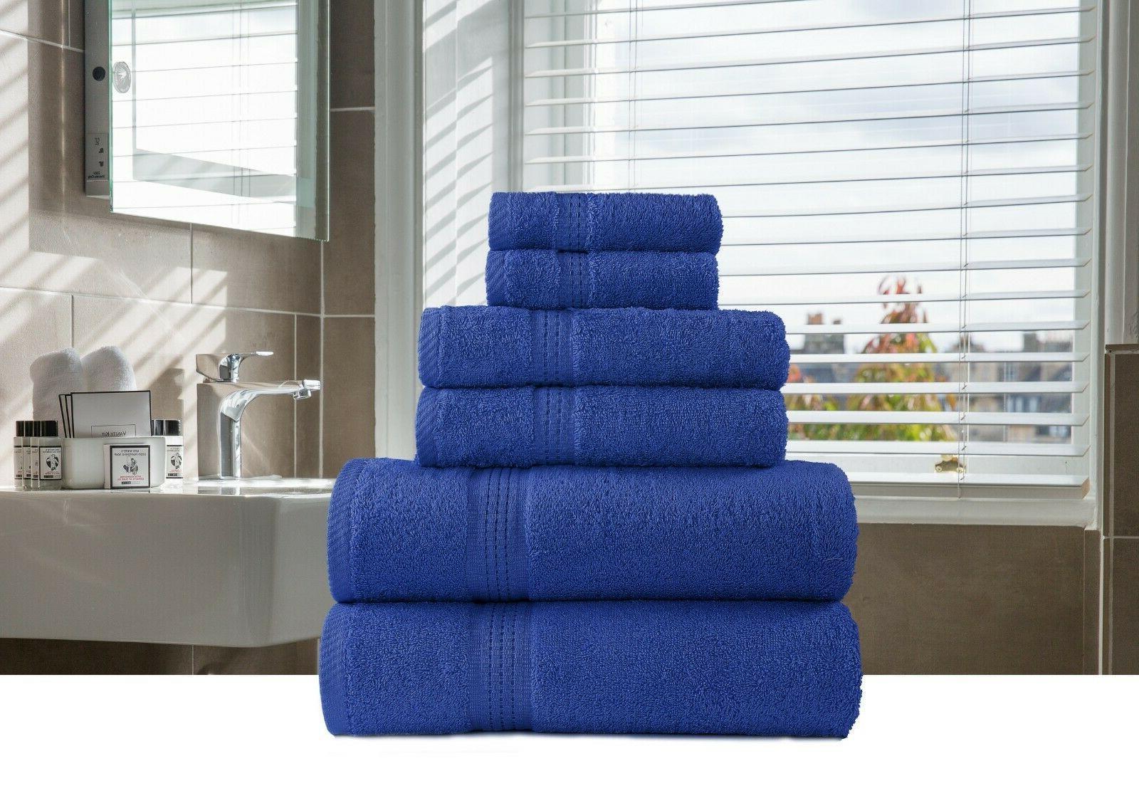 6 piece bath hand face towels packs