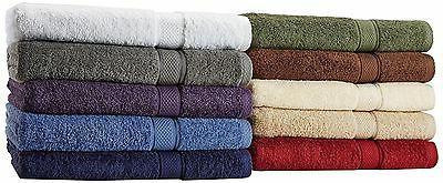 6 Bath Set Egyptian Cotton 600 Gram Colors Luxurious Towels