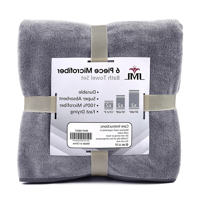 6 Piece Microfiber Towel Set