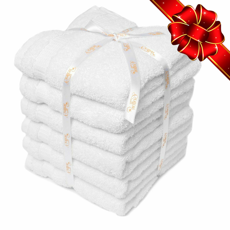6 white ultra soft luxury pure 100