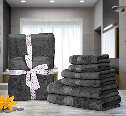 Utopia 700 GSM Thick Towel Grey; Bath Hand Towels - 100% Ring-Spun Hotel Quality Softness High