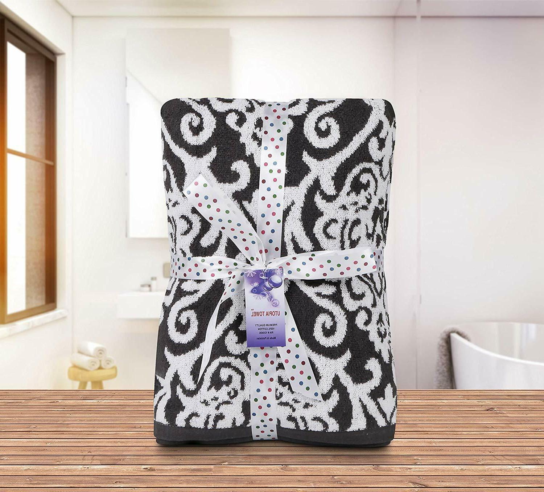8 Towel Black Bath 2 Hand Towels Wash Clothes