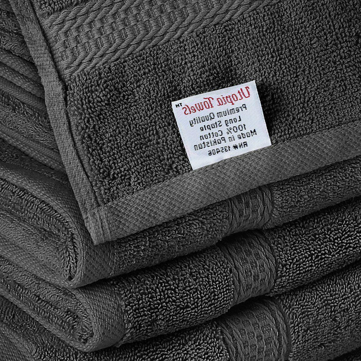Utopia Towel Set, Dark 2 Hand Towels