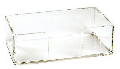 Acrylic Guest Towel Holder Tray Bathroom Paper Hand Towels