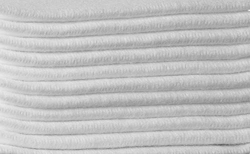 Linen Feel Guest Towels White Napkins 200 Highly Absorbent, Soft Hand Towels Bathroom, Parties, Dinner, Cocktails,