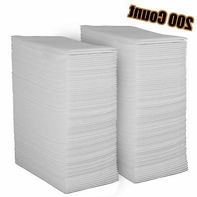 Linen Feel Disposable Guest Towels - Cloth Like White Paper