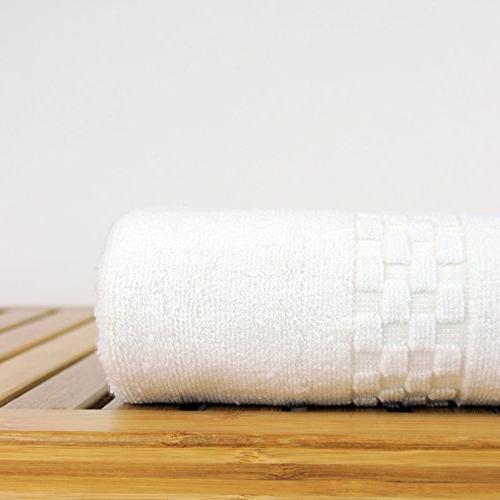 Luxury Hotel & Spa Towel Checkered Pattern
