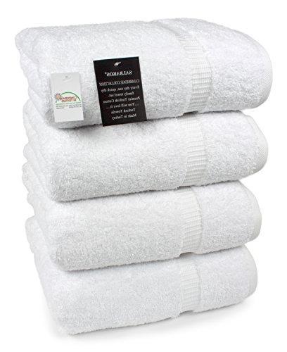 SALBAKOS Luxury Hotel Spa Towels 100 Percent Turkish Cotton Bath Towel Set 27 x White