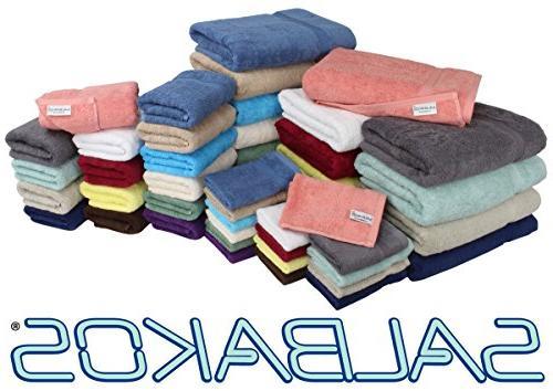 SALBAKOS Hotel Spa Bath Towels 100 Cotton Bath Towel Set x Inch, White