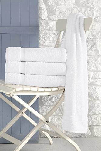 SALBAKOS Luxury and Spa - 100 Genuine Cotton 4 Bath x White