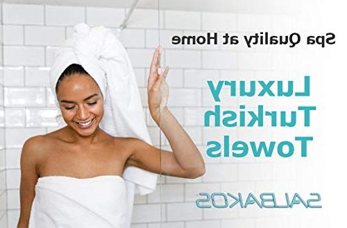 SALBAKOS Luxury Hotel Spa Bath 100 Percent Genuine Turkish Bath x Inch, White