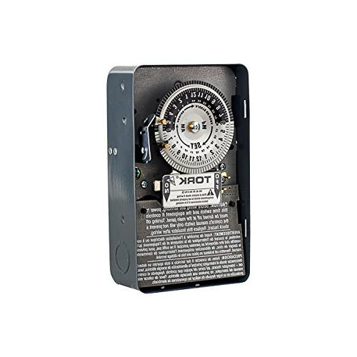 Tork 1104 Time Switch, 24 hours Dial, DPST Timer - Indoor On