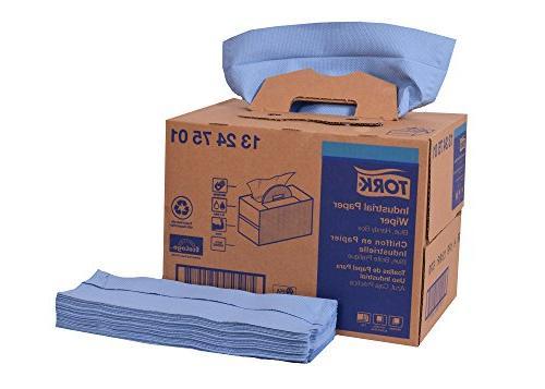 Tork 13247501 Industrial Paper Wiper, Handy Box, 4-Ply, 12.8