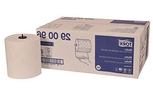 Tork 290096 Premium Soft Matic Paper Hand Towel Roll, 2-Ply,