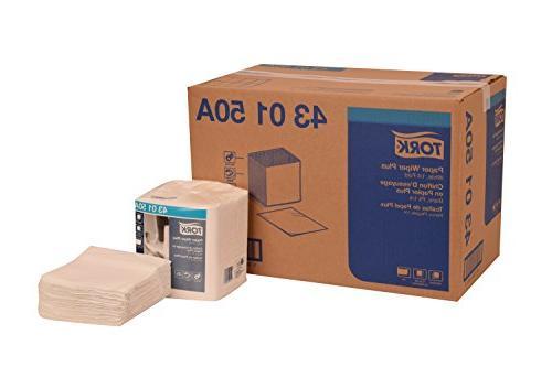 """Tork 430150A Paper Wiper Plus, 1/4 Fold, 1-Ply, 12.5"""" Width"""