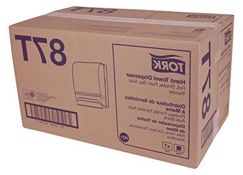 """Tork 87T Hand Towel Roll Auto Transfer, Plastic w/Steel 15.75"""" x 10.5"""" x 8.75"""" Depth, Smoke/Gray Tork RB800, RK1000"""