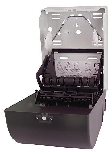 "Tork 87T Hand Towel Roll Dispenser, Push Bar, Auto Plastic Door w/Steel Back, x 10.5"" 8.75"" Smoke/Gray Tork RB800, RK1000"
