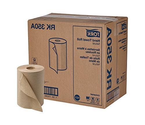 Tork Universal RK350A Hardwound Paper Roll Towel, 1-Ply, 7.8