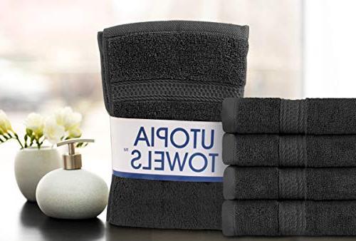 Utopia Cotton Large Hand Towels Multipurpose Bathroom Hand, Face, Spa