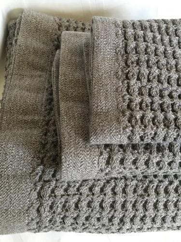 AmazonBasics ABFR-GY Cotton Bathroom Towel Pieces