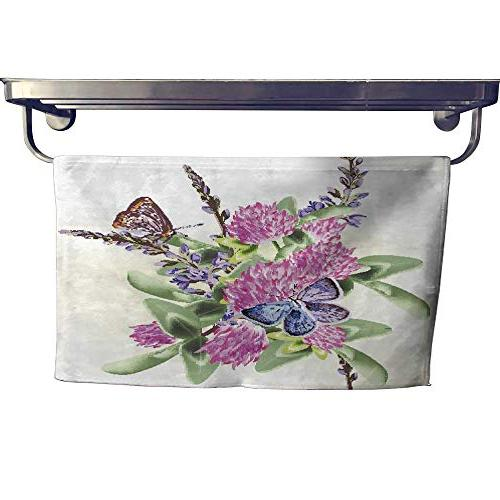 absorbent towel flower seamless wallpaper pattern