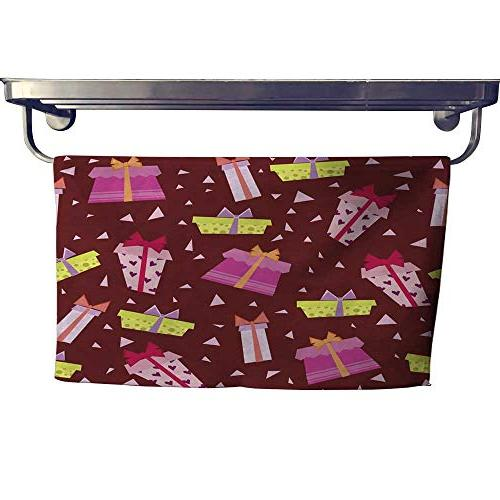 absorbent towel seamless wallpaper with gift boxes