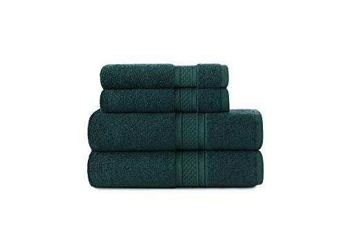 astro teal border stripe towel