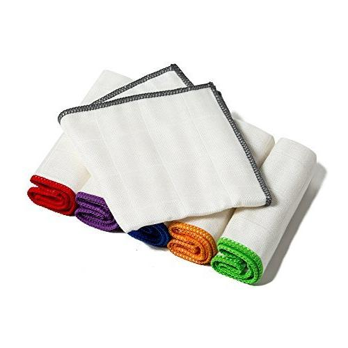 100% Bamboo Kitchen Dish Cloths White Washcloths Dish