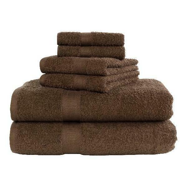 basic bath collection 6 piece towel set