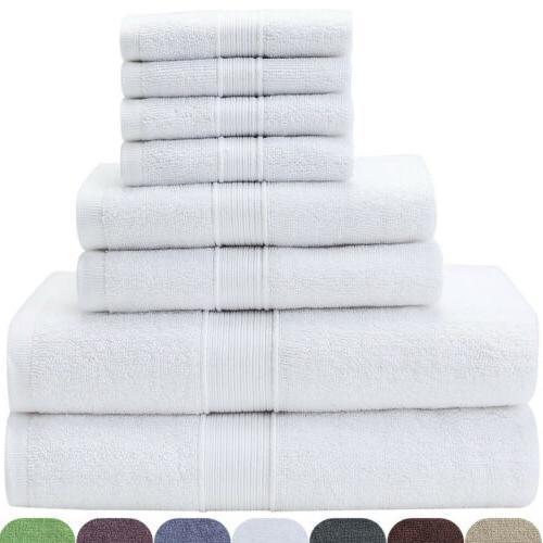 Bath Towel Premium Set of 8 Hotel Quality Soft