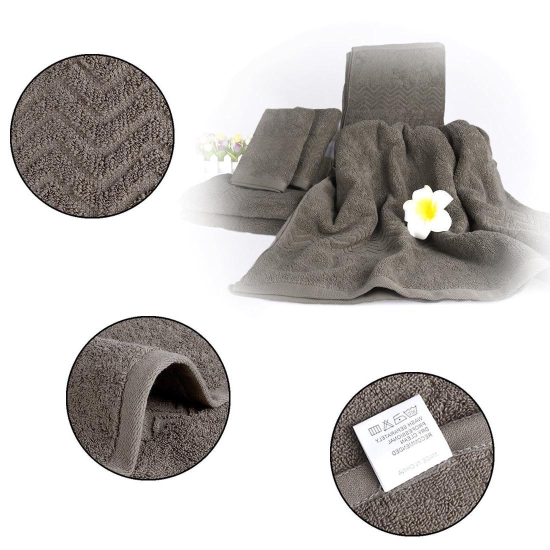 Bath Set Towels Towel 100% Cotton 6 Colors