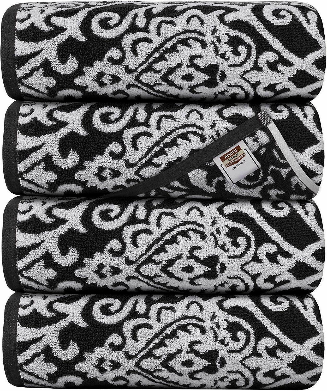 Bath Towels 4 Pack Towel Set 27 x 54 Inches Cotton Soft 600